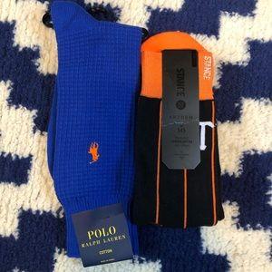 Men's Sock Bundle, BWT, Polo/STANCE 10-13